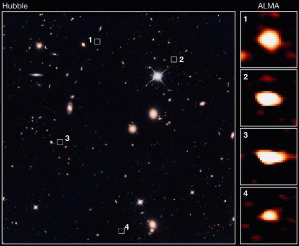 39 antenate delle galassie ellittiche massicce scoperte nell'universo primordiale