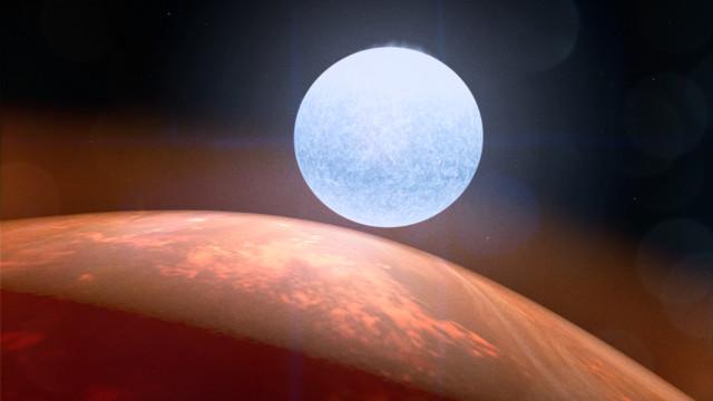 Concetto artistico di Kelt-9b con la sua stella sullo sfondo (Immagine NASA's Goddard Space Flight Center/Chris Smith (USRA))