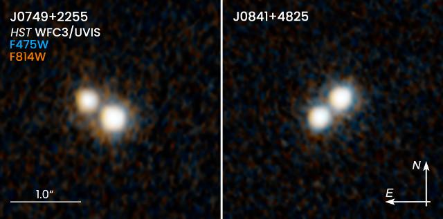 Le coppie di quasar J0749+2255 e J0841+4825