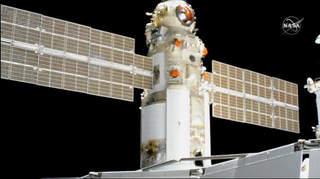 Nauka/MLM attracca alla Stazione Spaziale Internazionale (Immagine NASA TV)