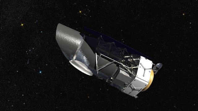 Rappresentazione artistica del telescopio spaziale WFIRST (Wide-Field Infrared Survey Telescope) (Immagine NASA/GSFC/Conceptual Image Lab)