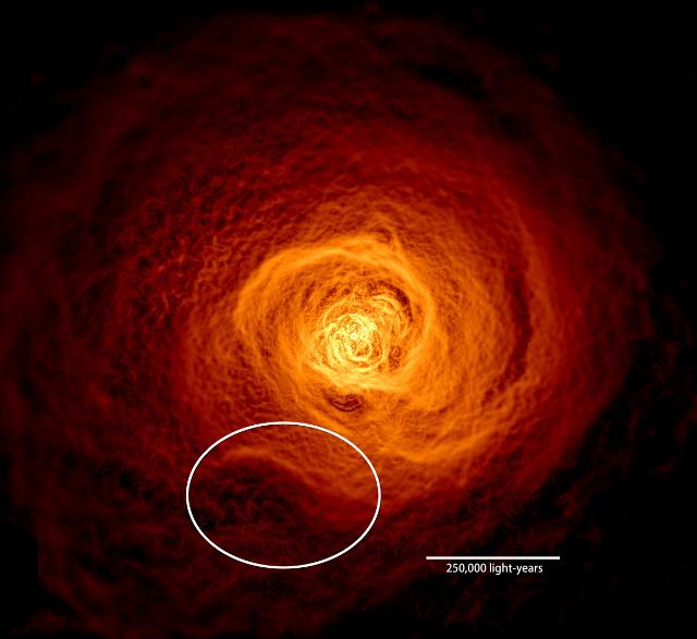 L'Ammasso di Perseo visto ai raggi X (Immagine NASA's Goddard Space Flight Center/Stephen Walker et al.)