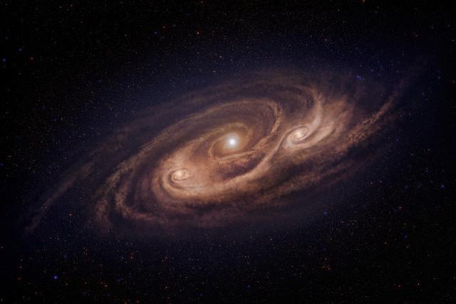 Concetto artistico di COSMOS-AzTEC-1 (Immagine cortesia National Astronomical Observatory of Japan. Tutti i diritti riservati)