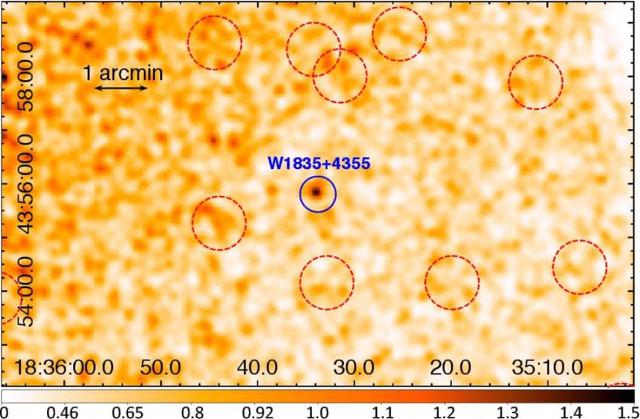 Una galassia Hot DOG vista ai raggi X