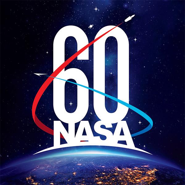 Il logo della NASA per il 60° anniversario (Immagine NASA)