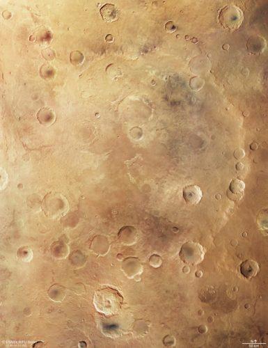 Il cratere Greeley (Immagine ESA/DLR/FU Berlin, CC BY-SA 3.0 IGO)