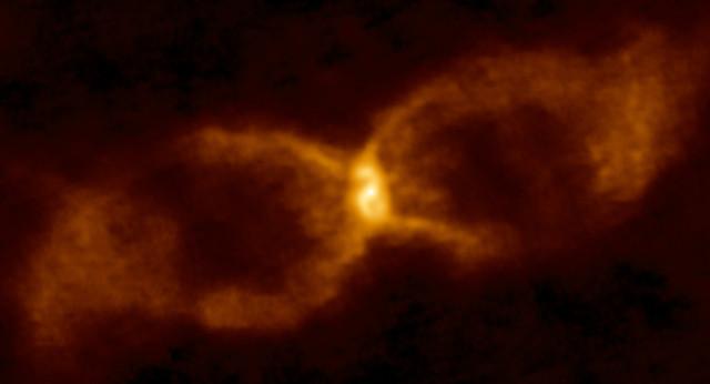 CK Vulpeculae vista da ALMA (Immagine ALMA (ESO/NAOJ/NRAO)/S. P. S. Eyres)