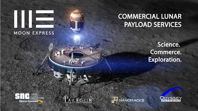 Concetto artistico del lander di Moon Express