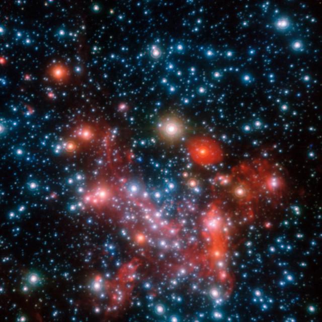 Il centro della Via Lattea visto dal VLT (Immagine ESO/S. Gillessen et al.)