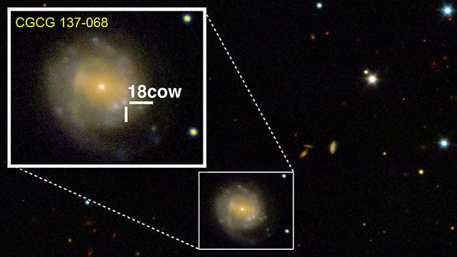Un'esplosione cosmica ha diverse interpretazioni