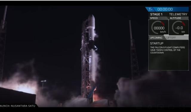 Il lander Beresheet al decollo su un razzo Falcon 9 (Immagine cortesia SpaceX)