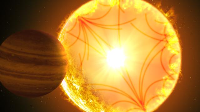 Concetto artistico del sistema di Kepler-1658 (Immagine cortesia Gabriel Perez Diaz/Instituto de Astrofísica de Canarias)