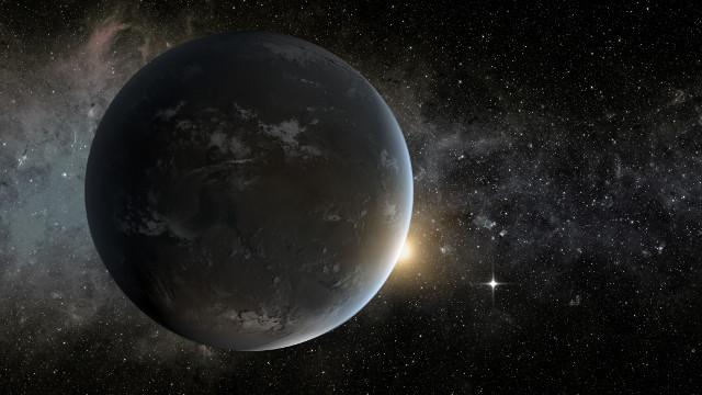 Concetto artistico di Kepler-62f, una super-Terra che orbita attorno a una stella di classe K (Immagine NASA Ames/JPL-Caltech/Tim Pyle)