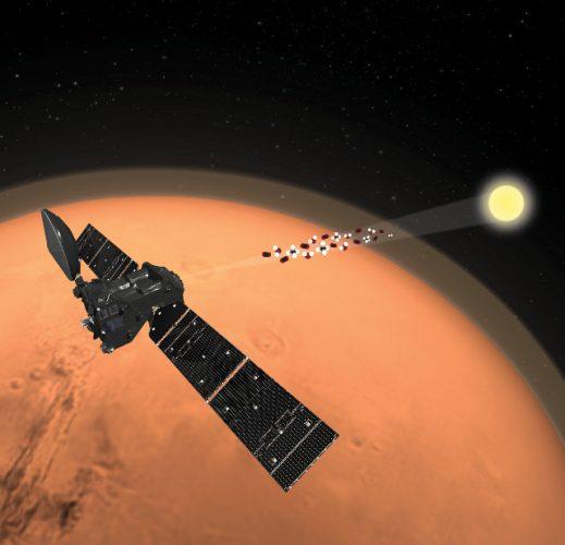 La sonda spaziale Trace Gas Orbiter ha rilevato acqua ma non metano su Marte