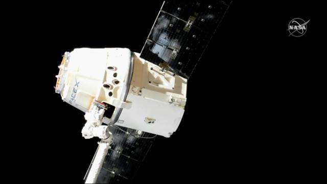 Il cargo spaziale Dragon lascia la Stazione Spaziale Internazionale per concludere la missione CRS-17 (Immagine NASA)