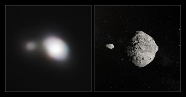 L'asteroide 1999 KW4 fotografato dallo strumento SPHERE