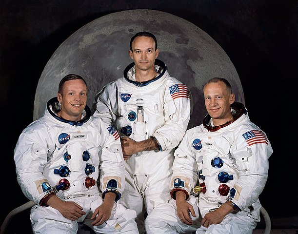 Neil Armstrong, Michael Collins ed Edwin
