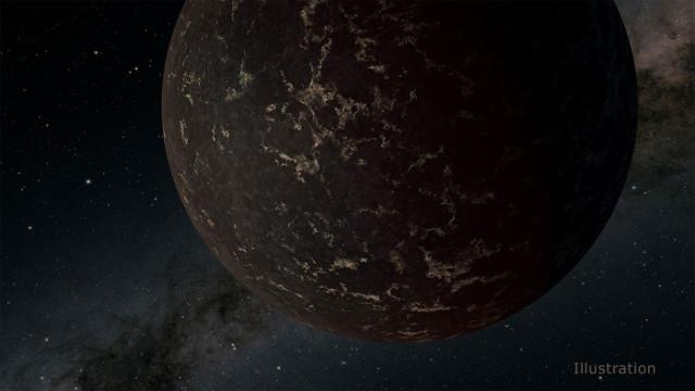 Rappresentazione artistica dell'esopianeta LHS 3844b (NASA/JPL-Caltech/R. Hurt (IPAC))