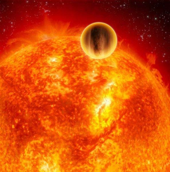 Concetto artistico di pianeta molto vicino alla sua stella (Immagine ESA)