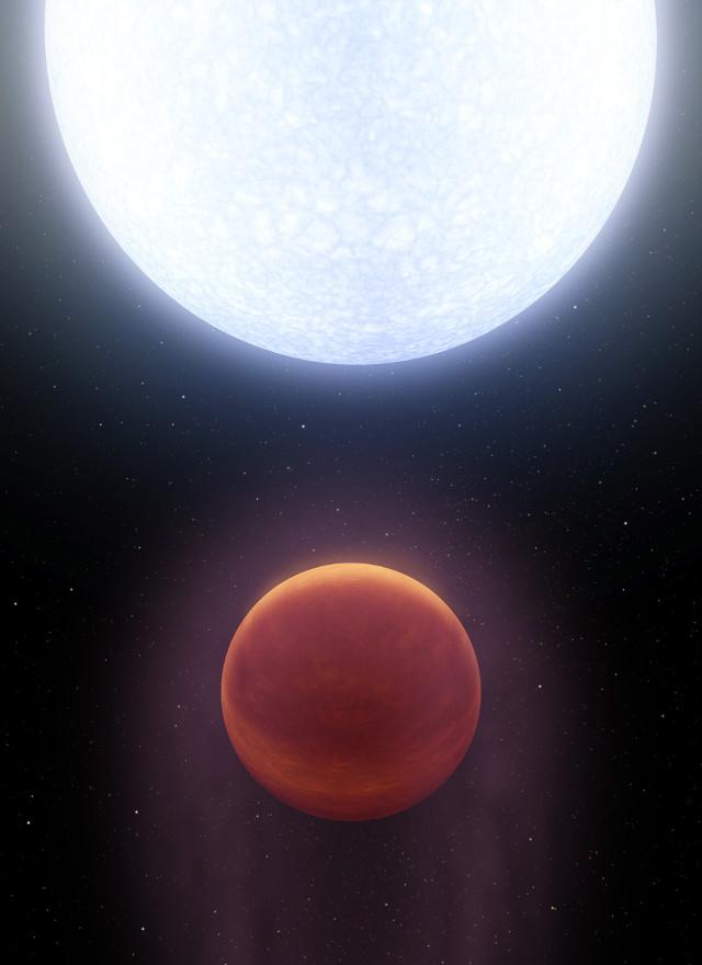 Concetto artistico dell'esopianeta KELT-9b (Immagine NASA/JPL-Caltech)