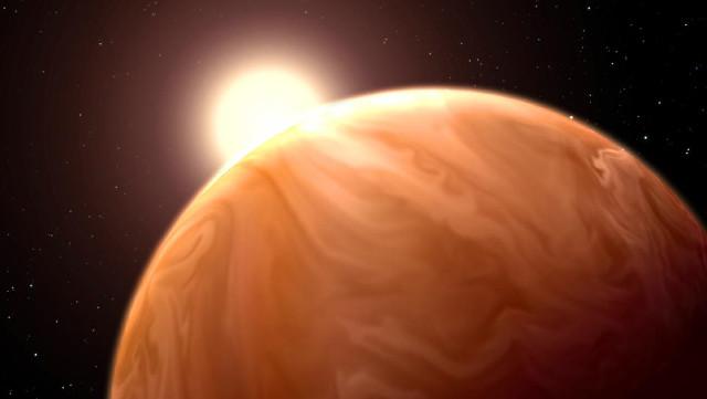 Concetto artistico di pianeta sub-nettuniano (Immagine NASA/ESA/G. Bacon (STScI)/L. Kreidberg & J. Bean (U. Chicago)/H. Knutson (Caltech) )