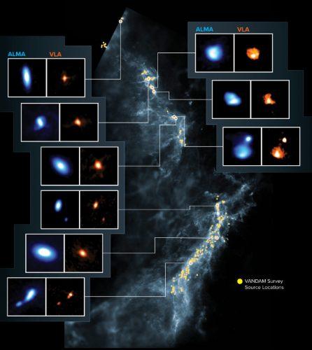 Protostelle nel Complesso di Orione