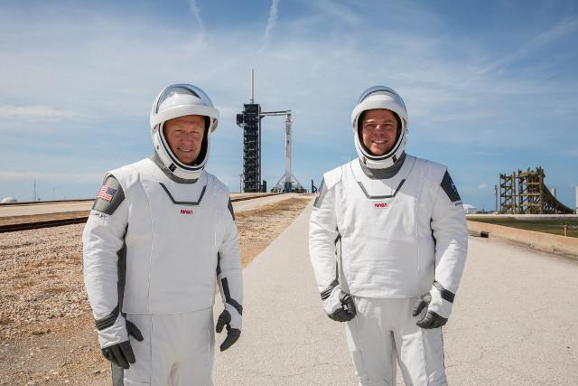 Douglas Hurley e Robert Behnken (Foto NASA/Kim Shiflett)