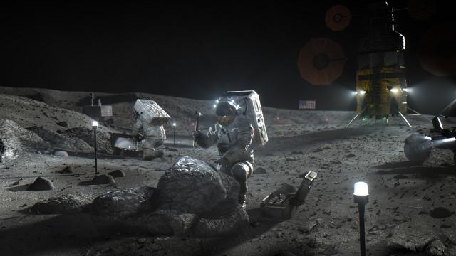 Concetto artistico di astronauta sulla Luna durante una missione del programma Artemis (Immagine NASA)