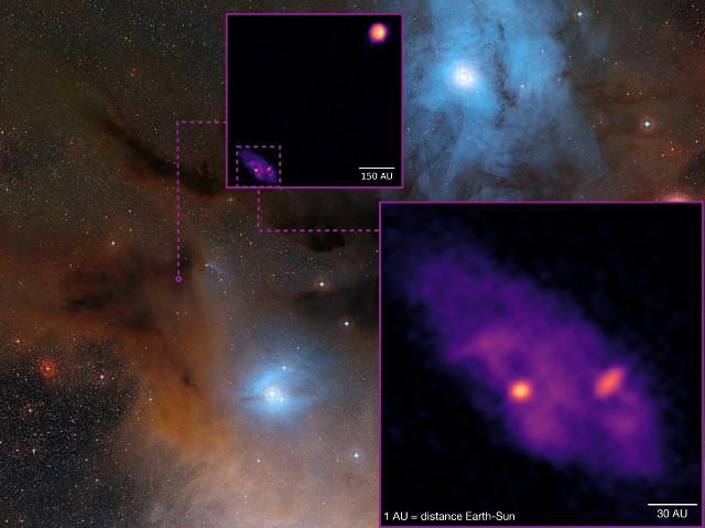 La nube molecolare dell'Ofiuco con le protostelle