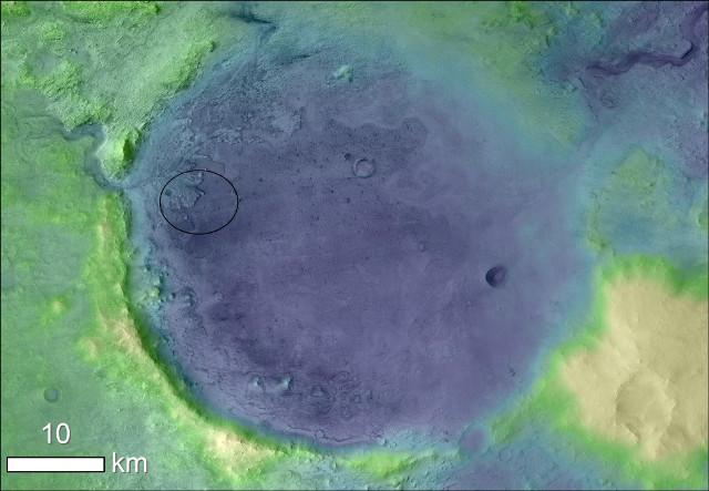 Il cratere Jezero su Marte