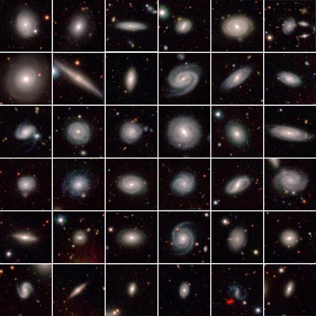 Alcune galassie osservate nel progetto GAMA