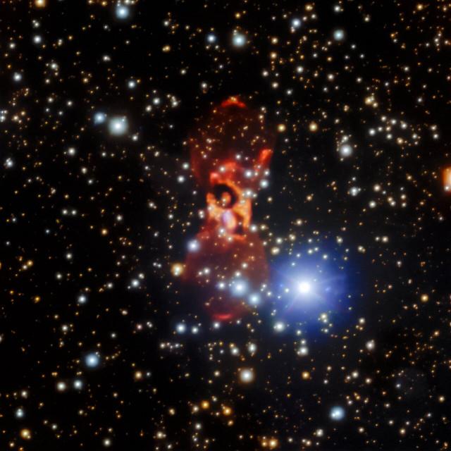 CK Vulpeculae vista da Gemini Nord (Immagine International Gemini Observatory/NOIRLab/NSF/AURA. Image processing: Travis Rector (University of Alaska Anchorage), Jen Miller (Gemini Observatory/NSF's NOIRLab), Mahdi Zamani & Davide de Martin)