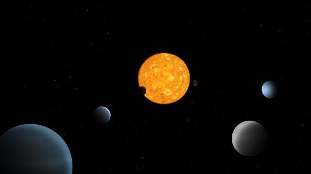 Concetto artistico del sistema di TOI-178 (Immagine ESA)