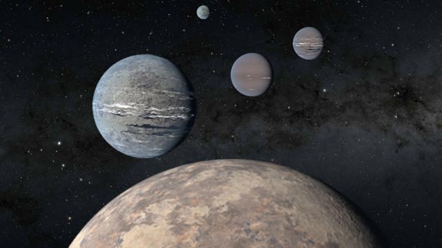 Concetto artistico dei pianeti del sistema di HD 108236 (Immagine NASA/JPL-Caltech)