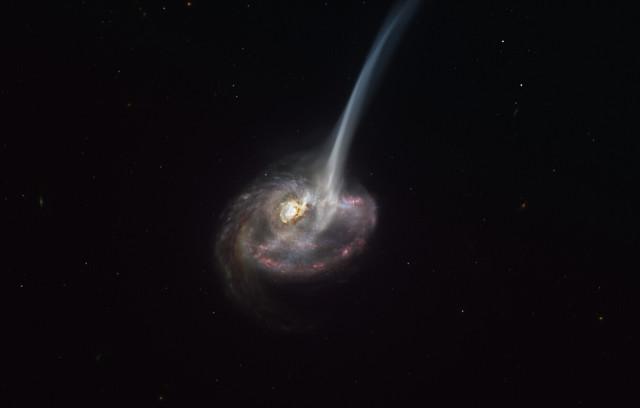 Concetto artistico della galassia ID2299 (Immagine ESO/M. Kornmesser)