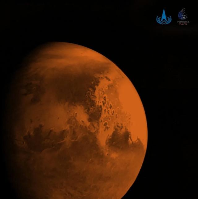 Marte fotografato da Tianwen 1 (Foto cortesia CNSA/CASC)