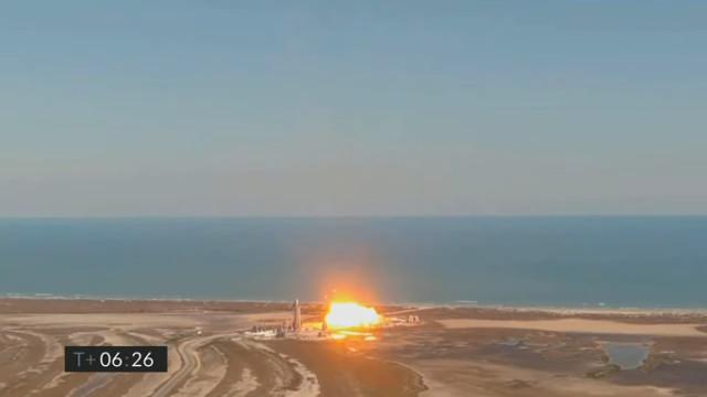 L'esplosione di Starship SN9 (Immagine cortesia SpaceX)