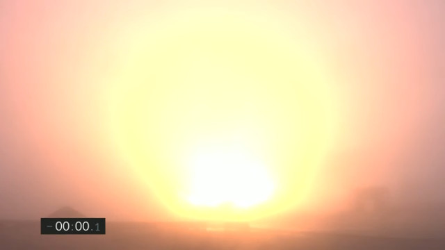 Il decollo di Starship SN11 nella nebbia (Immagine cortesia SpaceX)