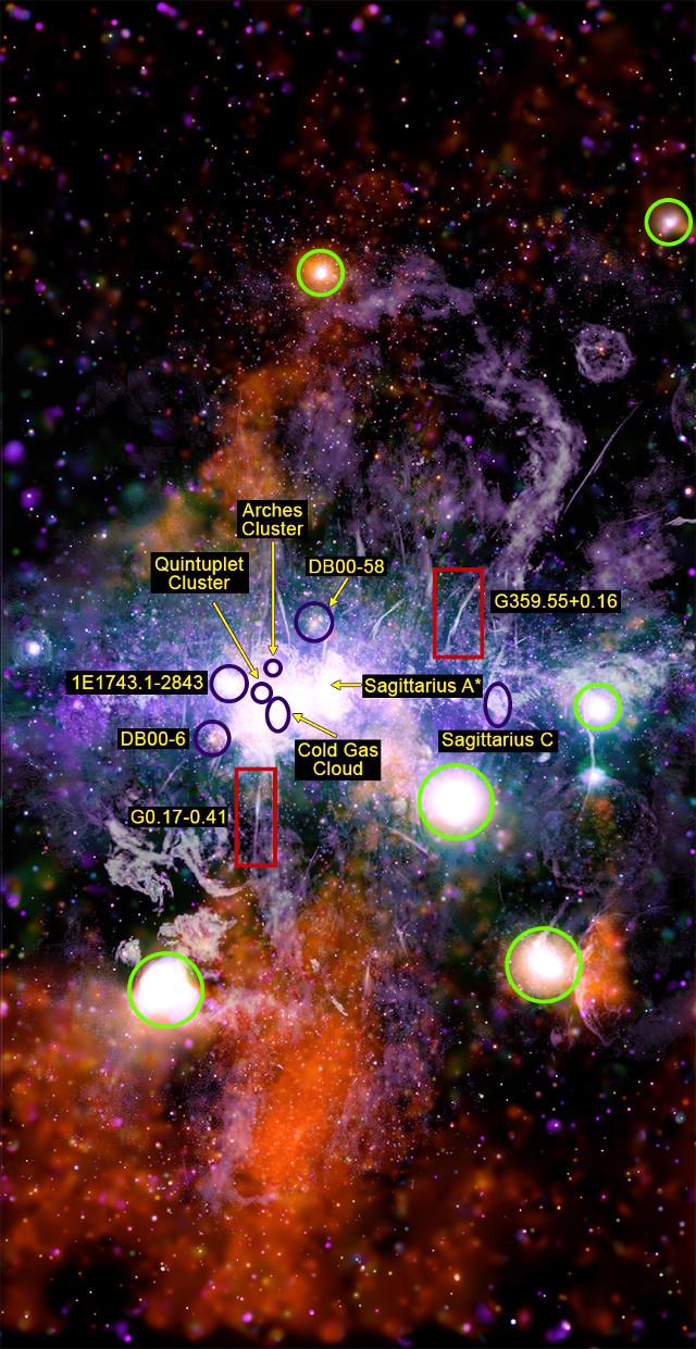 Il centro della Via Lattea visto da Chandra e MeerKAT
