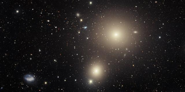 Alcune galassie galassie dell'ammasso della Fornace viste dalla DECam